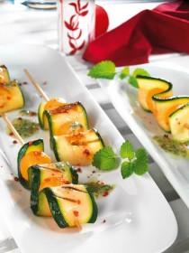 Zucchini-Melonenspiess