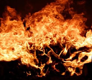 fire in heater