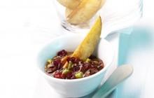 Kartoffel-Fries-mit-Cranberry-Dip