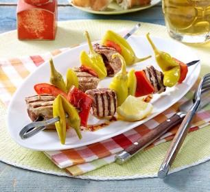 Schweinefleisch-Spieße (Pfefferonen mild-pikant)