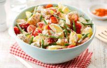 Kartoffel-Bohnensalat mit Tomaten